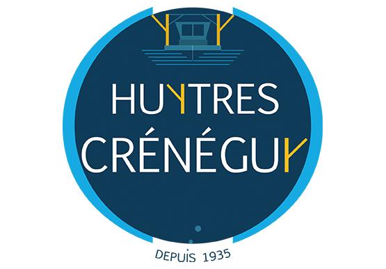 Ici, le nom huitres crénéguy est associé à un pictogramme, le dragueur, formant une entité inséparable.