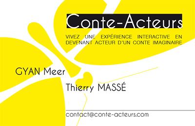 GM Guillevic a réalisé la carte de visite Conte-Acteurs au sein de La Fabrique des Images.
