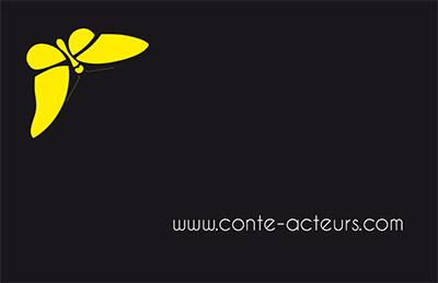 GM Guillevic a conçu la carte de visite Conte-Acteurs.