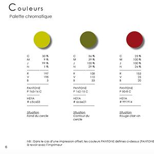 Extrait charte graphique couleurs palette chromatique.