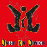 Logo du groupe Just In Jago sur fond rouge et carte de Mayotte.
