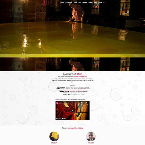 Accueil site internet de la Chapelle Rose.