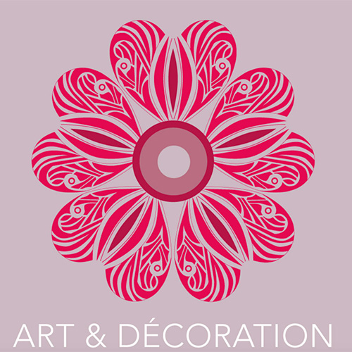 Rose graphique et insciption Art et Décoration.