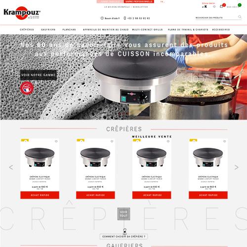 Maquette site Internet de Krampouz.