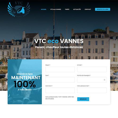 Accueil site Internet VTC eco VANNES.